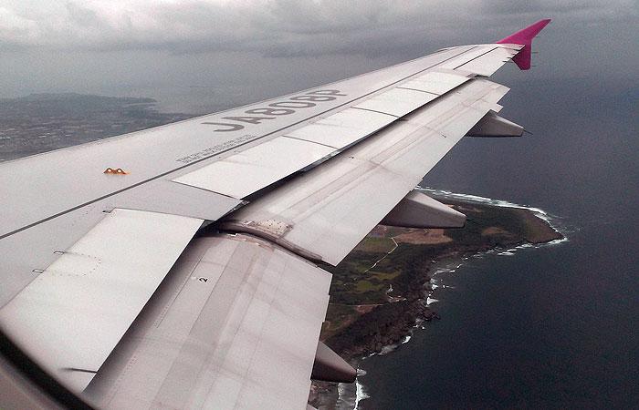 ピーチの飛行機