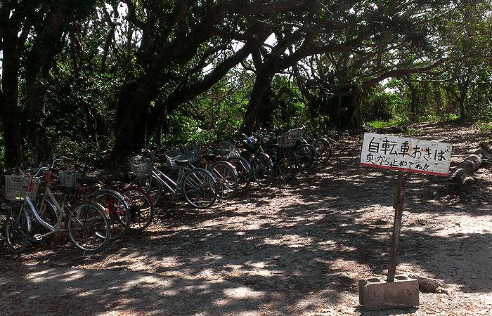 カイジ浜の駐輪場