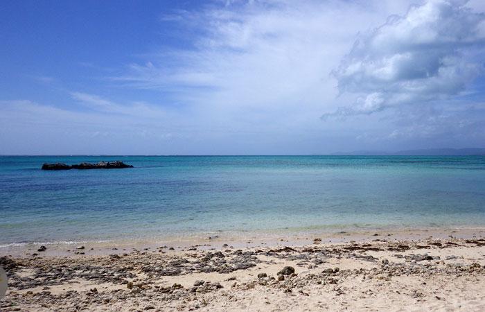 竹富島 カイジ浜の海