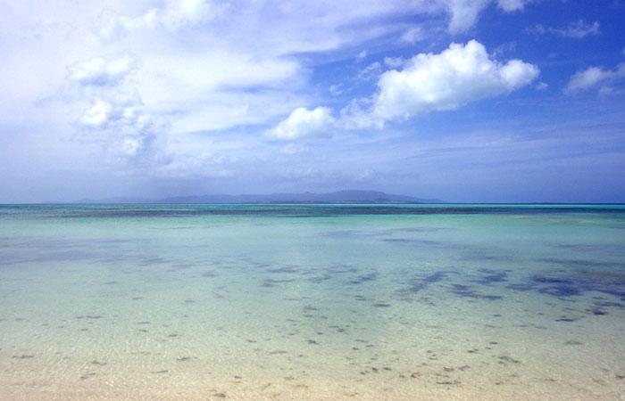 竹富島 カイジ浜から見える小浜島