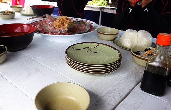 西表島マリウド 海人ツアー食事