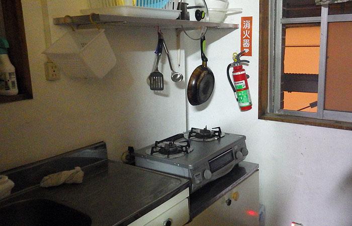 石垣島ゲストハウス えみっくす キッチン