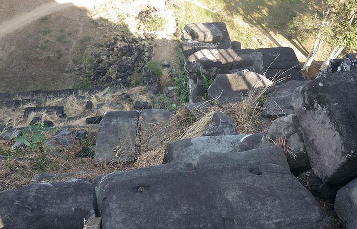 コーケーピラミッド 階段からの眺め