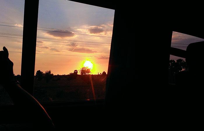 カンボジア 夕日