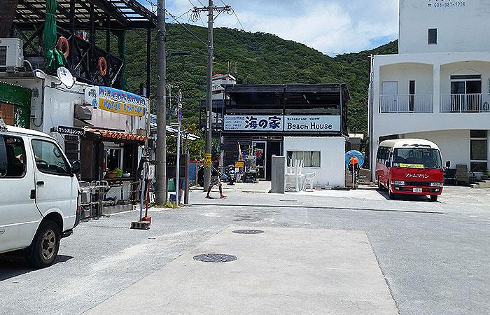 阿波連ビーチ 入口