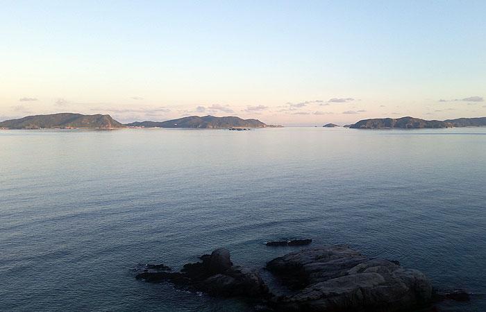阿波連展望台からの景色