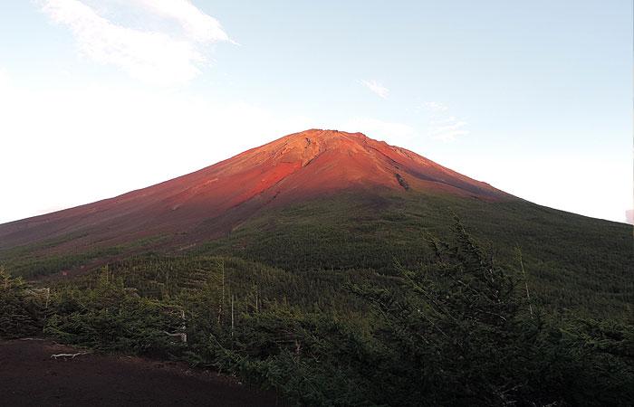 赤い富士山