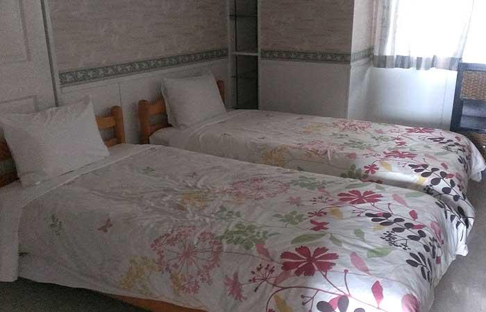 ビーチサイドコンドミニアム寝室