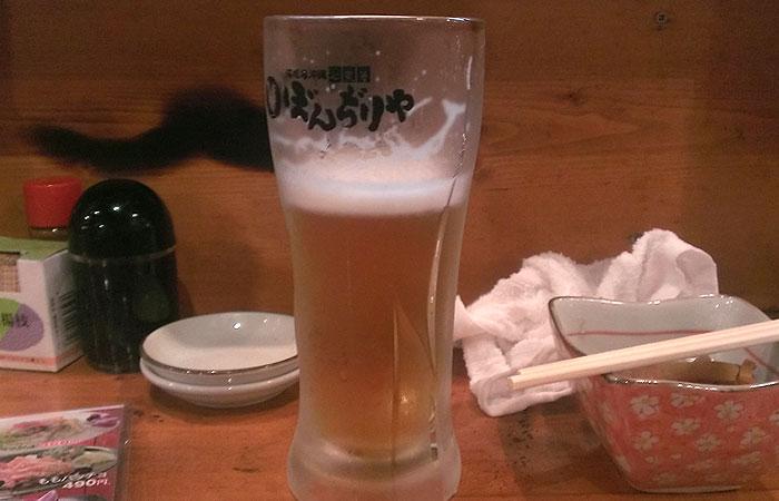 ぼんじりや 100円ビール