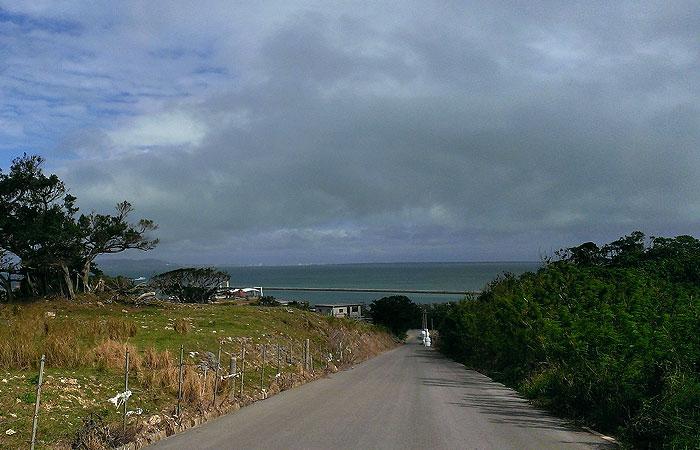 小浜島 坂の上からの景色
