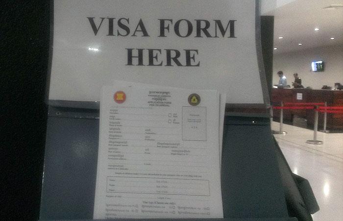 シェムリアップ空港 ビザ申請