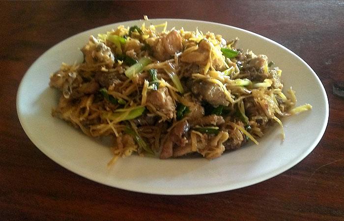 カンボジアの生姜焼き