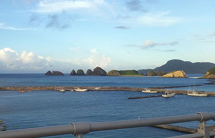 阿嘉大橋からの景色