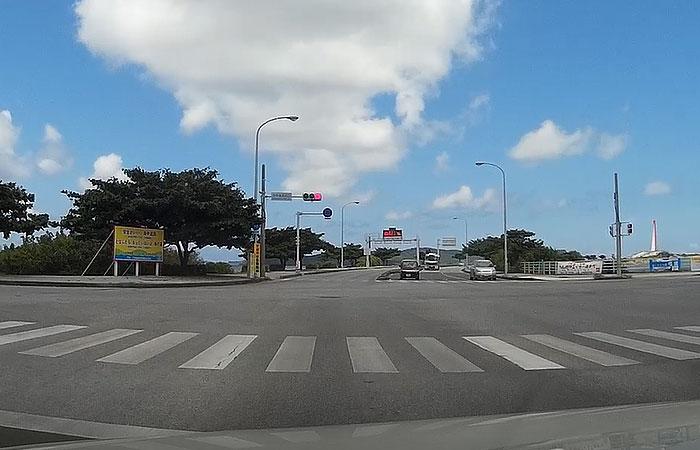 海中道路入り口