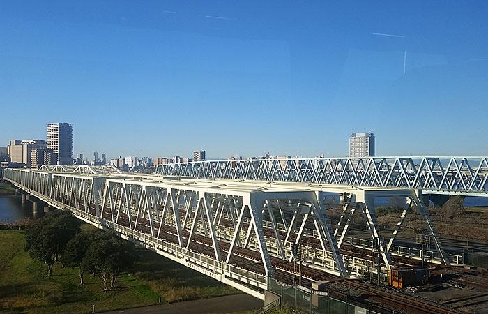 東北急行バス日光線車窓 橋