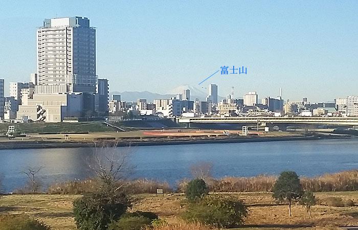 東北急行バス日光線車窓 富士山
