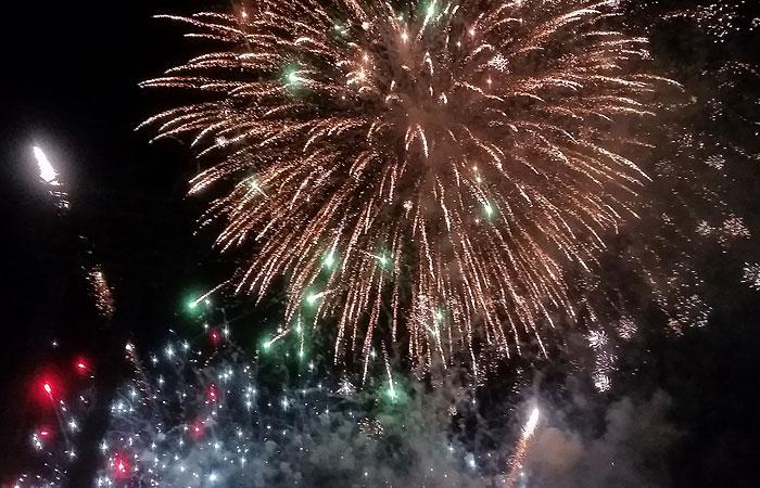 全島エイサー祭り 花火
